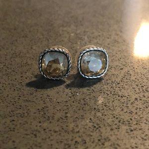Brighton crystal earrings in gold